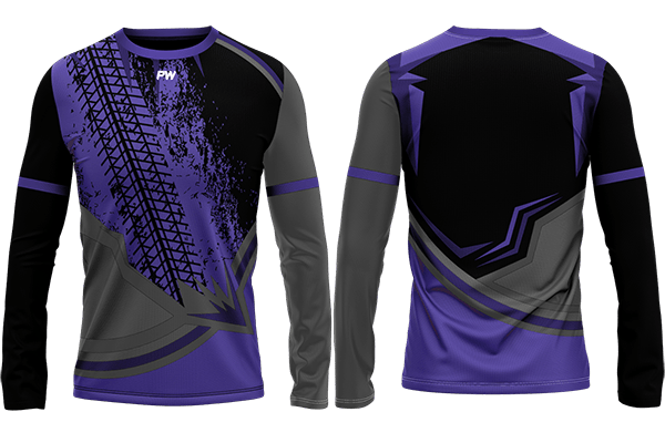 Long Sleeve Gaming Jerseys Purple