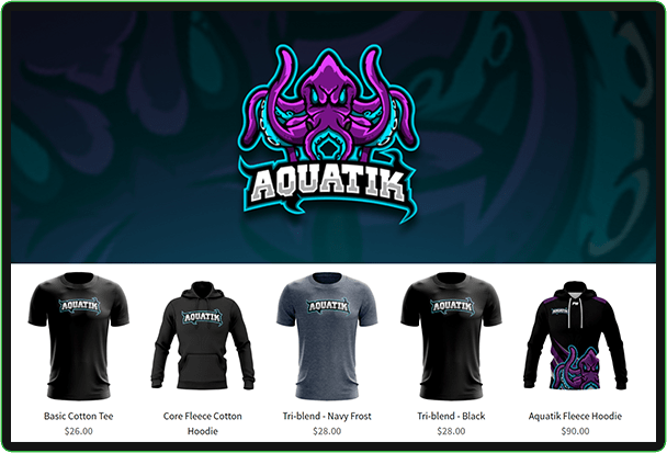 aquatik esports custom gaming jersey store